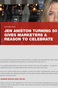 Jennifer Aniston turning 50